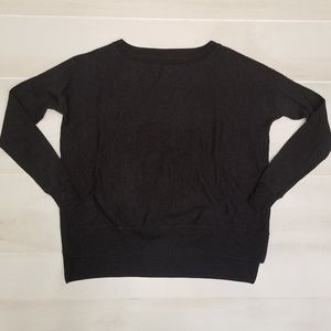 {XS} Patagonia Heathered Dark Gray/Black Sweater